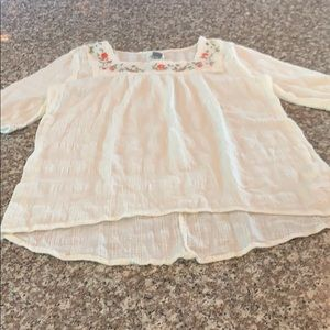 Old Navy Girls Embroidered Cotton Blouse Size XL